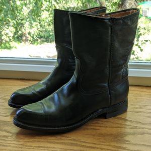 Men's Black low heel boot size 9 D